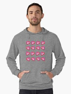 Men and women sweatshirt fashion tops! She Said She Wouldn't Go, Hearts! / Watercolor / Painting colorful and bold and celebrating life and Caribbean joy! Valentine red and pink hearts! Don't just get a Rose! By @anoellejay @redbubble