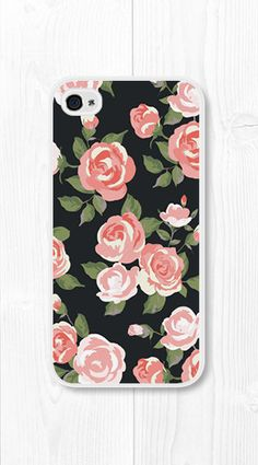 Coral Peach Floral iPhone Case iPhone
