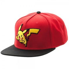 - Officially Licensed Pokemon - Embroidered Logo with Sublimated Flat Under Visor - Adjustable Snapback - One Size Fits Mostly : Intended for Ages 14 and Older. - 76% Acrylic 14% Wool 10% Cotton