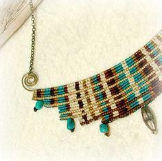 Collar de la diosa cavandoli macramé por MammaEarthCreations