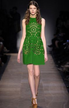 Morpheus Boutique  - Green Hollow Out Round Neck Holiday Peated Dress