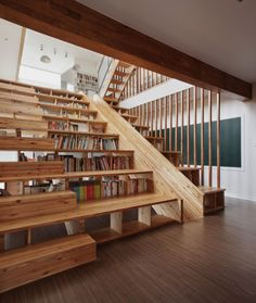 This is a Library Staircase/Slide. Let me repeat that - a Library Staircase/SLIDE! Stairs You Can Sit On, Interior Architecture, Interior And Exterior, Future House, My House, Indoor Slides, Interior Design Minimalist, Modern Interior, Staircase Design