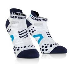 Chaussettes PRO RACING SOCKS V2.1 - RUN LOW-CUT SOCKS Blanc / Bleu