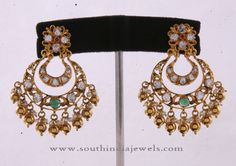 22k Gold Antique Chandbali Earrings Designs, Gold Antique Chandbali Collections