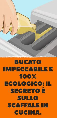 Bucato impeccabile e 100% ecologico: il segreto è sullo scaffale in cucina. Flylady, Desperate Housewives, Natural Cleaning Products, Problem Solving, Healthy Tips, Clean House, Housekeeping, Home Remedies, Tricks