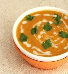 Sopa de lentejas y zanahoria