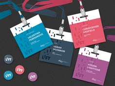 LIFT – Conference Materials I have some more new work to share. I've just updated my portfolio with some of the materials and extended branding for the LIFT Newspace Startup Week identity. Check out the full case study: htt. Name Tag Design, Id Card Design, Id Design, Badge Design, Event Design, Conference Badges, Conference Branding, Design Conference, Event Branding