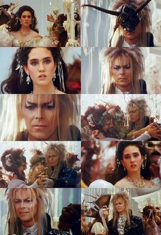 Labyrinth, Jareth and Sarah in a freaky dream sequence. My favorite part in the movie.