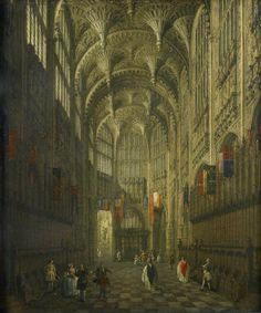 The Interior of Henry VII's Chapel, Westminster Abbey, London by Canaletto