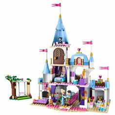 """HOT PRICES FROM ALI - Buy """"Compatible with Lego 41055 Girl Friends Kids model 25006 blocks Cinderellas Romantic Castle building blocks toys for children"""" from category """"Toys & Hobbies"""" for only USD. Lego Disney Princess, Lego Princesse Disney, Lego Friends, Toys For Girls, Kids Toys, Cinderella And Prince Charming, Building Blocks Toys, Lego Building, Princesas Disney"""