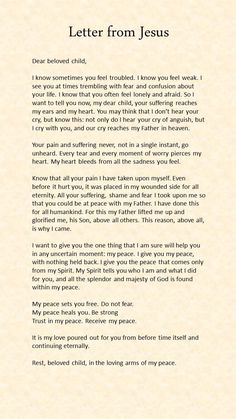 Letter from Jesus