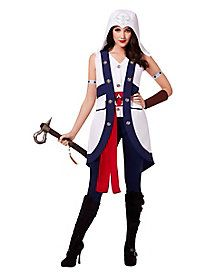 Help stop the Templar Order this Halloween in this officially licensed Assassin's Creed Connor Adult Women's Costume!