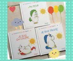 Les 3 livres que je vous présente font partie d'une nouvelle collection qui met en scène une sympathique licorne à la crinière qui change de couleur en fonction de ses émotions. Comme nos enfants,... Animation, Activities, School, Kids, Comme, Emotion, Conscience, Religion, Baby Gifts