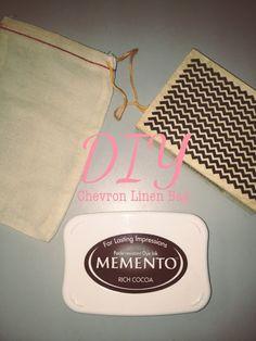 D.I.Y CHEVRON LINEN BAGS