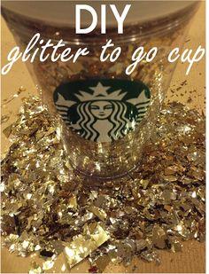 {DIY} glitter starbucks cup
