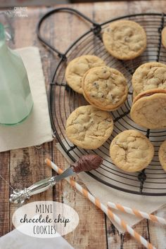 Mini Chocolate Chip Cookies | Crumbs and Chaos