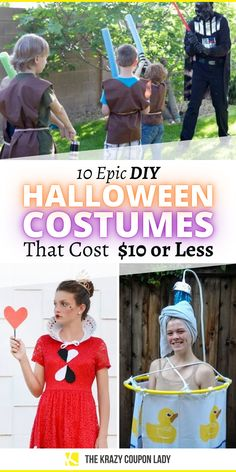 Looking for cheap, quick DIY Halloween costumes? Nobody wants to spend a bunch of money on a Party City costume that you'll probably only wear once. That's just silly. These easy Halloween costumes are all DIY and you probably have most of the stuff you need already or be able to grab it at Dollar Tree. Check some of these epic, totally doable Halloween costume ideas that cost less than $10 served up by The Krazy Coupon Lady. Cheap Halloween Costumes, Diy Halloween, Homemade Crafts, Diy Crafts, Do It Yourself Organization, Coupon Lady, Dollar Tree, Costume Ideas, Easy Diy