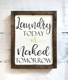 Laundry sign- wood sign- laundry room decor- farmhouse style- home decor- painted