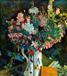 The Athenaeum - Flowers in a Water Jug (Pierre Bonnard - No dates listed)