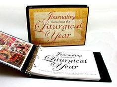 Journaling Throughout the Liturgical Year...  Love working in this journal with my boys.