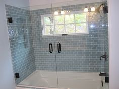 glass shower tiled curb - Google Search