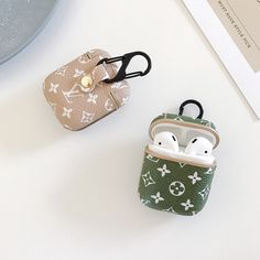 Premium LV New Leather Apple Airpods 1 & 2 Case - Airpods Cute Cases, Cute Phone Cases, Iphone Phone Cases, Ipod, Fone Apple, Iphone Price, Accessoires Iphone, Airpod Case, Air Pods