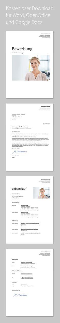 Bewerbung Albus · Design · Vorlage · Dezent · Kostenloser Download