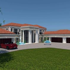 A Luxury 5 Bedroom Double Storey House Plans For Sale Round House Plans, Tuscan House Plans, House Plans For Sale, Unique House Plans, House Plans With Photos, Contemporary House Plans, Luxury House Plans, 5 Bedroom House Plans, Duplex House Plans