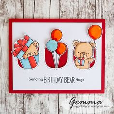 MFT Beary Special Birthday stamp set