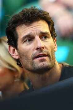 Mark Webber Photos - 2016 Australian Open - Day 2 - Zimbio Mark Webber, Sports Celebrities, Patrick Dempsey, Photos 2016, Australian Open, Older Men, Formula One, Physical Activities, Race Cars