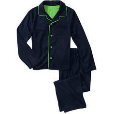 Faded Glory Boys 2 Piece Coat Pajama Set