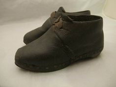 Early child's shoes - probably worn in the mines