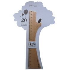 ruler tree is ok.   But can you imagine a larger one of these for tracking height?  It would be simple, clean, and cool.  My family has a great one for tracking the height of my kids made by a family friend that is colorful and fun.