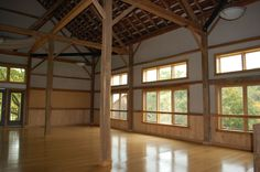 Natural light inside the Montague Retreat Center barn and event space in Western Massachusetts.