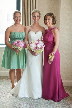 Beautiful Shot Of A Bridal Bouquet Bridesmaid And Mother The Bride Corsage