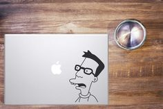 Nerd || MacBook sticker || our online store: https://www.etsy.com/shop/PasteITsticker || our facebook page: https://www.facebook.com/pasteit.it || #pasteit #sticker #stickers #macbook #apple #blackandwhite #art #drawing #custom #customize #diy #decoration #illustration #design #technology #computer #pc #cartoon #comics #simpson #nerd #geek #glasses  #decal #skin #cover #laptop