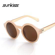 SUNKISS Rodada Círculo Óculos Óculos De Sol Das Mulheres Do Vintage Unisex UV400 Óculos Óculos De Acetato De Retro dos óculos de Sol Das Senhoras do Desenhador(China (Mainland))