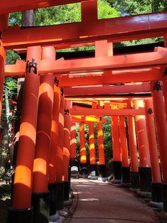 "Fushimi Inari Shrine Kyoto, Jp The Ten Thousand  ""Torii"" Shrine"