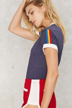 What a cu-TEE! Buy a new cute t-shirt from Nasty Gal's range of womens t-shirts & graphic tees. V-neck or extreme scoop, black or white, all tees are here! Ringer Tee, California Style, Cute Tshirts, Nasty Gal, Best Sellers, New Look, V Neck T Shirt, Graphic Tees, Cute Outfits
