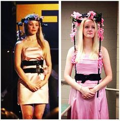Regina George from Mean Girls | All you need for this one is a prom dress, some flowers... and a back brace. The perfect Mean Girls costume!