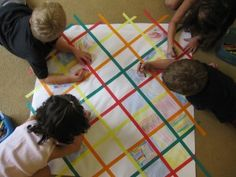 "Making quilts - we are so doing this during ""Q"" week!"
