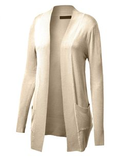 LE3NO Womens Open Knit Sweater Cardigan