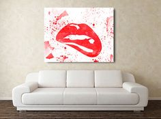 NEW ITEM in shop. Very nice piece of Modern Art ... https://www.etsy.com/listing/289781043/sexy-lips-watercolor-art-modern  #sexy #sexylips #watercolorcove #watercolorart