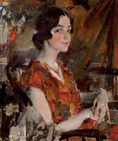 NICOLAI FECHIN (1881-1955) Portrait of Kate, 1926 Oil on canvas, 30 x 25 inches