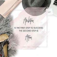 Ambition is not enough. You have to take action and stay at it.  #success #grind #focus  Ambição é apenas o começo para o seu sucesso. O que realmente importa é a ação consistente.  #personalorganizer #sucesso #determinacao