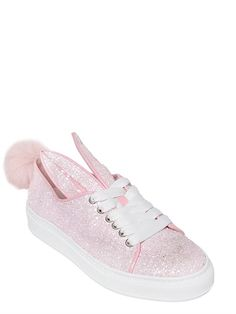 Pin for Later: Cute Character Shoes That Toe the Kitsch Line Minna Parikka  Bunny Tail Glitter Sneakers Minna Parikka Bunny Tail Glitter Sneakers