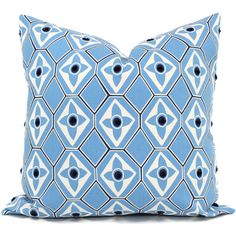 Light Blue Decorative Pillow Cover Navy Dot 18x18 20x20 22x22 or... ($30) ❤ liked on Polyvore featuring home, home decor, throw pillows, decorative pillows, home & living, home décor, light blue, navy toss pillows, light blue home decor and polka dot throw pillows