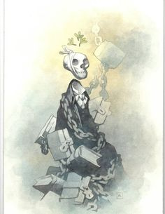 A Christmas Carol: Scrouge - Jacob Marley by Mike Mignola * Sketch Inspiration, Character Design Inspiration, Comic Book Artists, Comic Artist, Character Concept, Concept Art, 3d Character, Mike Mignola Art, Jacob Marley