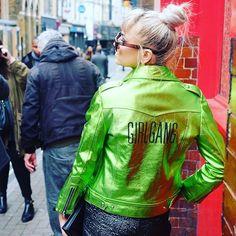 I need a GIRL GANG biker! | Danielle x #SBxLFW #lfw #girlgang ~ Fab jacket @bailybags