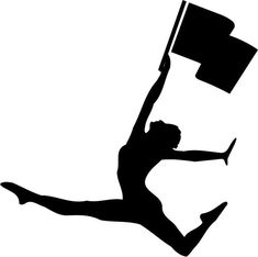 Color Guard Flag Twirler Die-Cut Decal Car by BeeMountainGraphics